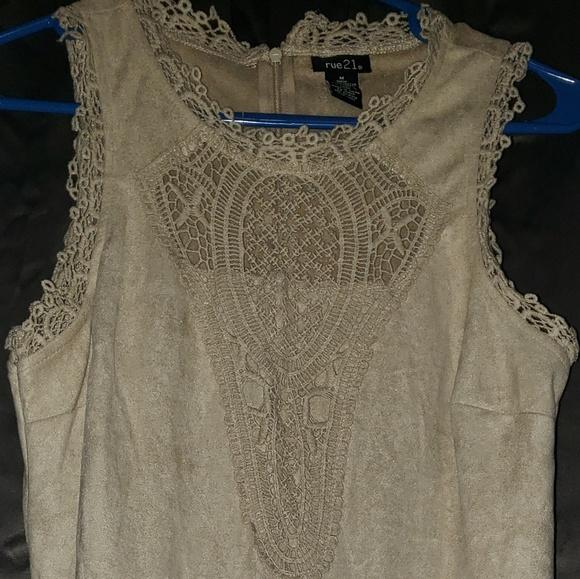 Rue21 Dresses & Skirts - Suede feeling Tan Dress